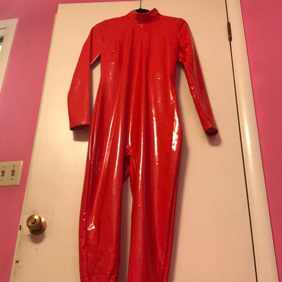 Urban Outfitters Other Red Latex Britney Spears Jumpsuit Costume